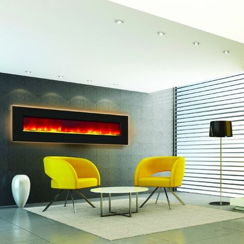Amantii Wall Mount Built In 81 Quot Backlit Electric Fireplace