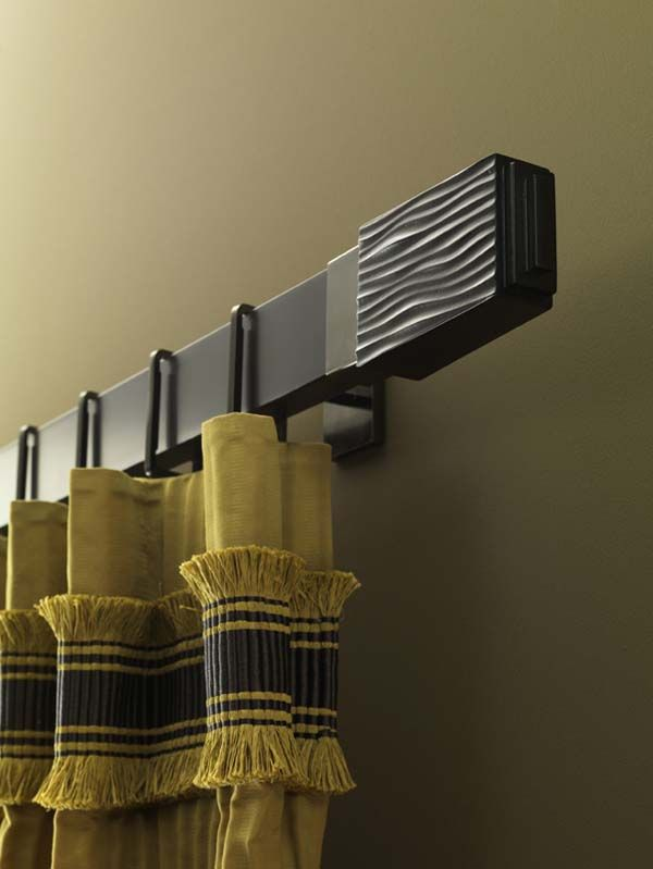 Chic Curtain Poles Add Syle To Your Rooms Metal Curtain Rod