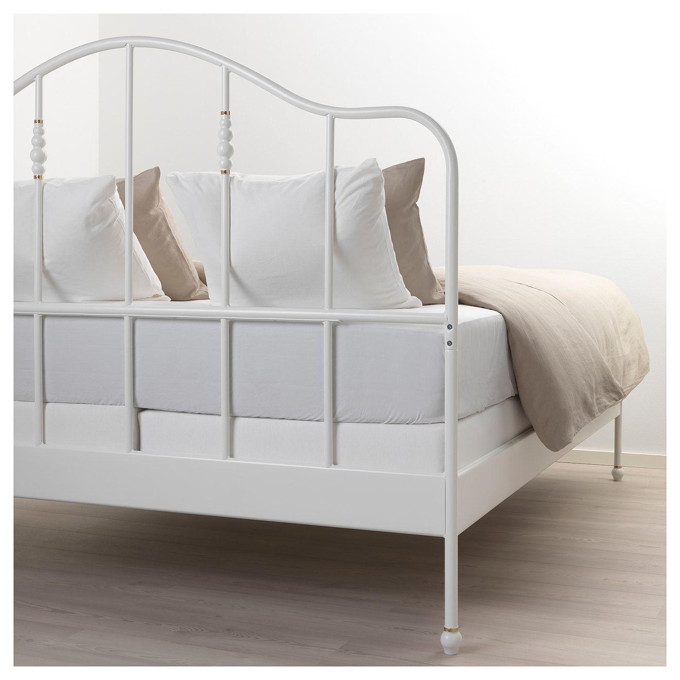 SAGSTUA Bed frame white, Espevär Queen (avec images