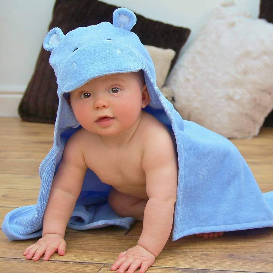 Personalised happy hippo baby towel baby hooded towel towels and hippo baby hooded towel from notonthehighstreet negle Image collections
