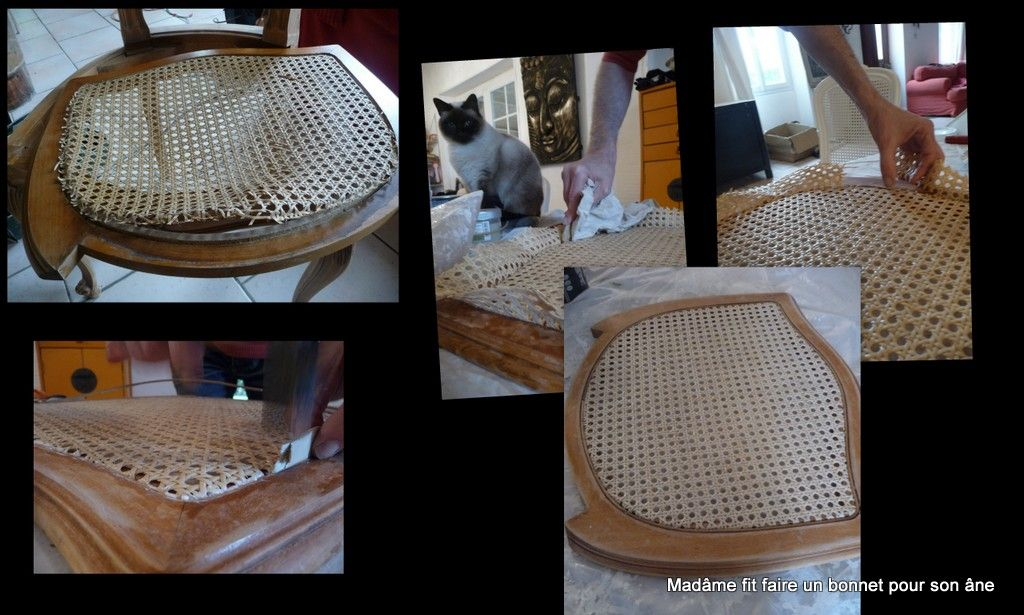 Refaire le cannage d'une chaise : tuto ! DIY ! Step by step