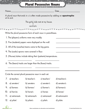 1000+ ideas about Possessive Nouns on Pinterest | Plural Nouns ...
