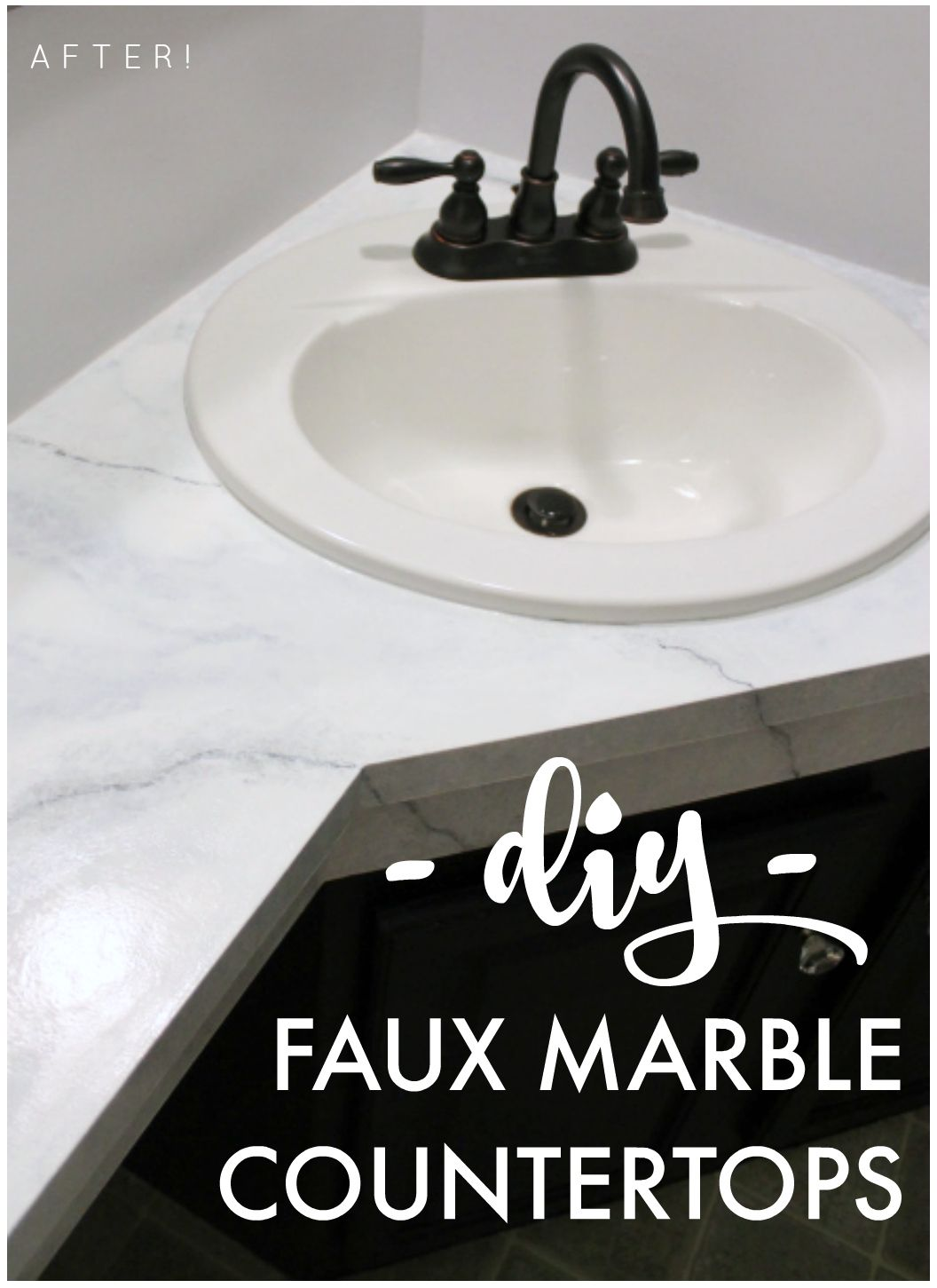 Diy Marble Countertops From Outdated Laminate To Beautiful Marble For Less Than 100 Ohthefun921 S Countertops Diy Bathroom Makeover Countertop Paint Kit