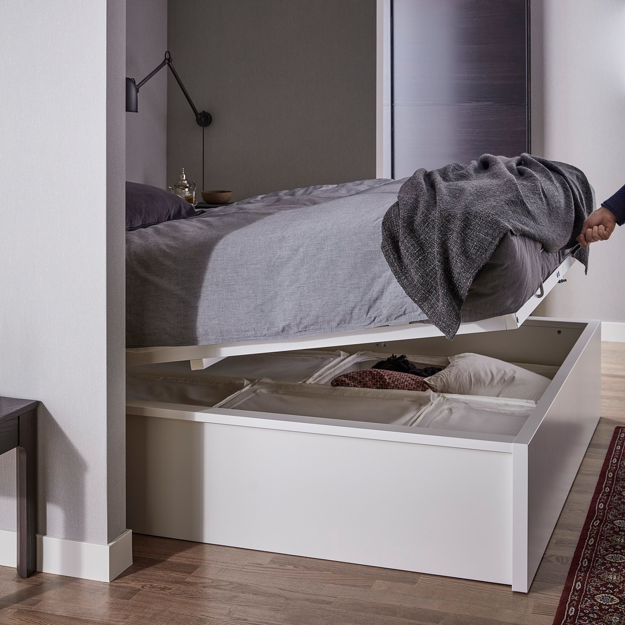 Malm Pull Up Storage Bed White Find It Here Ikea Storage Bed White Bedding Ikea Malm