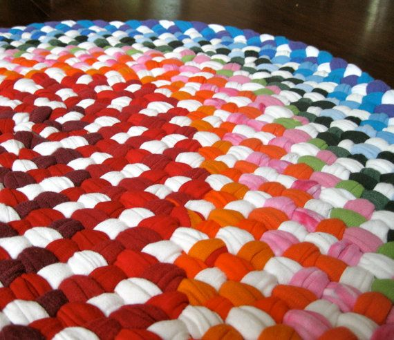 Xl Rag Rug: How To Make A Braided T-shirt Rug