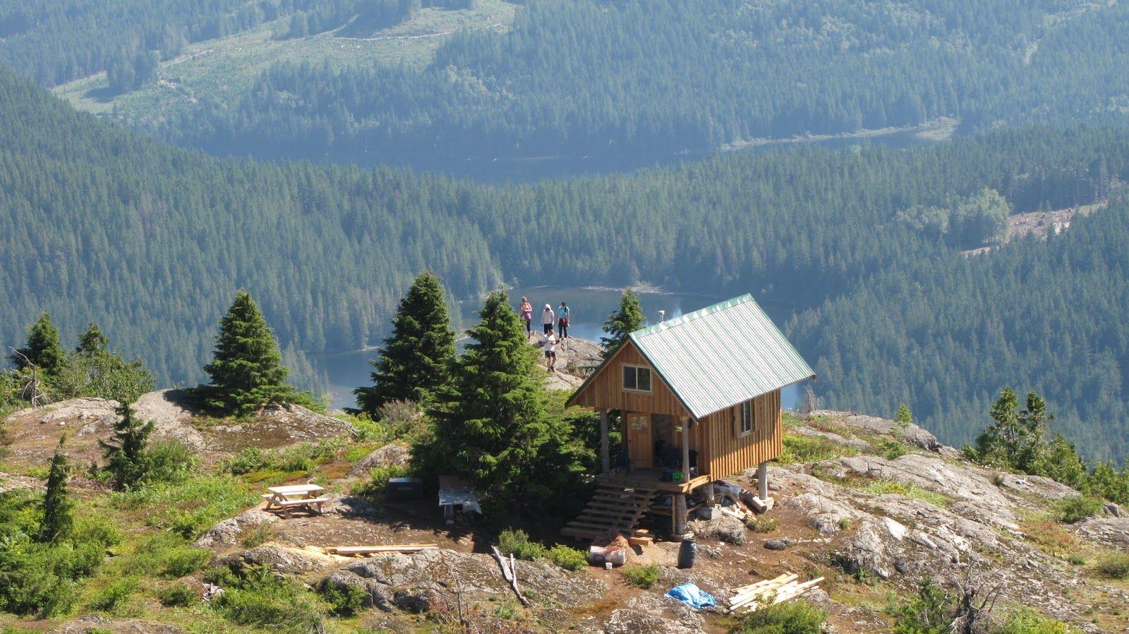 Tin Hat Cabin on Sunny Coast Mountain Trail (BC, Canada ...