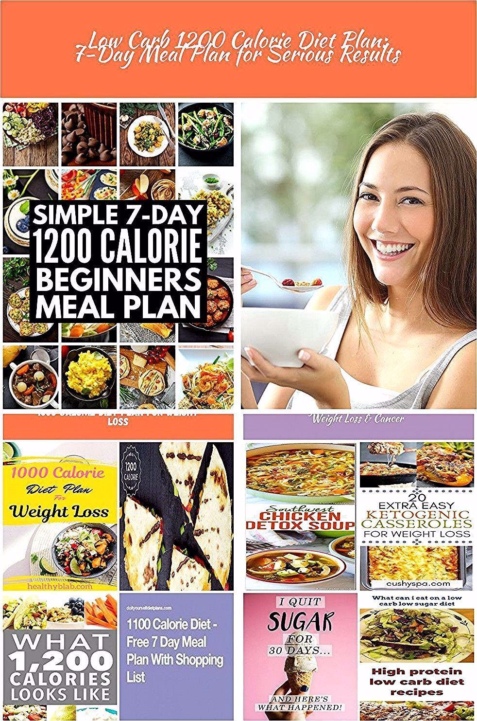 Low Carb 1200 Calorie Diet Plan 7Day Meal Plan for Serious Results 1200 calori