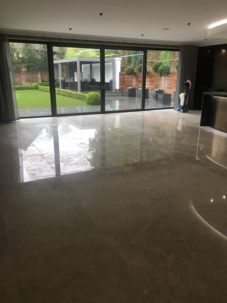 Before The Builders Protection Was Removed And This Floor Was