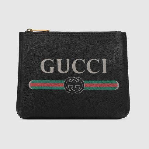 42ca60756 Cartera Maletín Pequeña de Piel con Estampado Gucci en 2018 | TTU ...