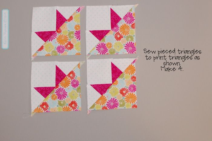 Be Happy pieced block 9 step 4