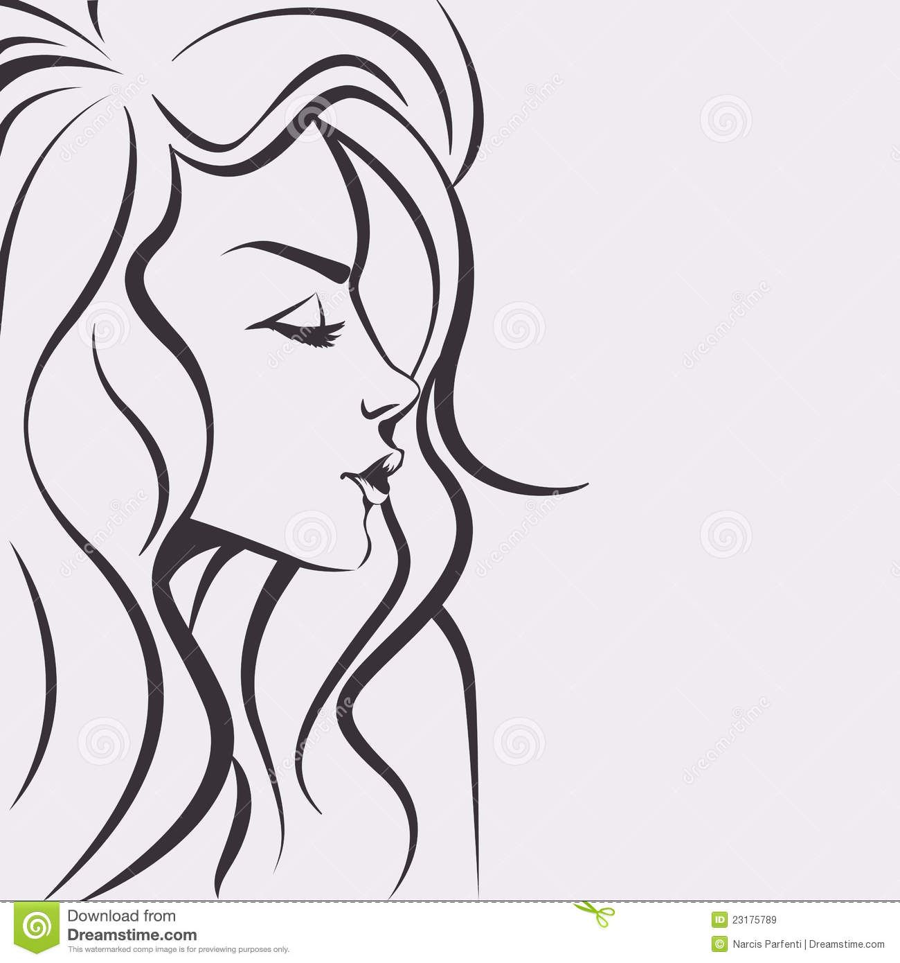 40+ Best Collections Girl Woman Face Outline Drawing