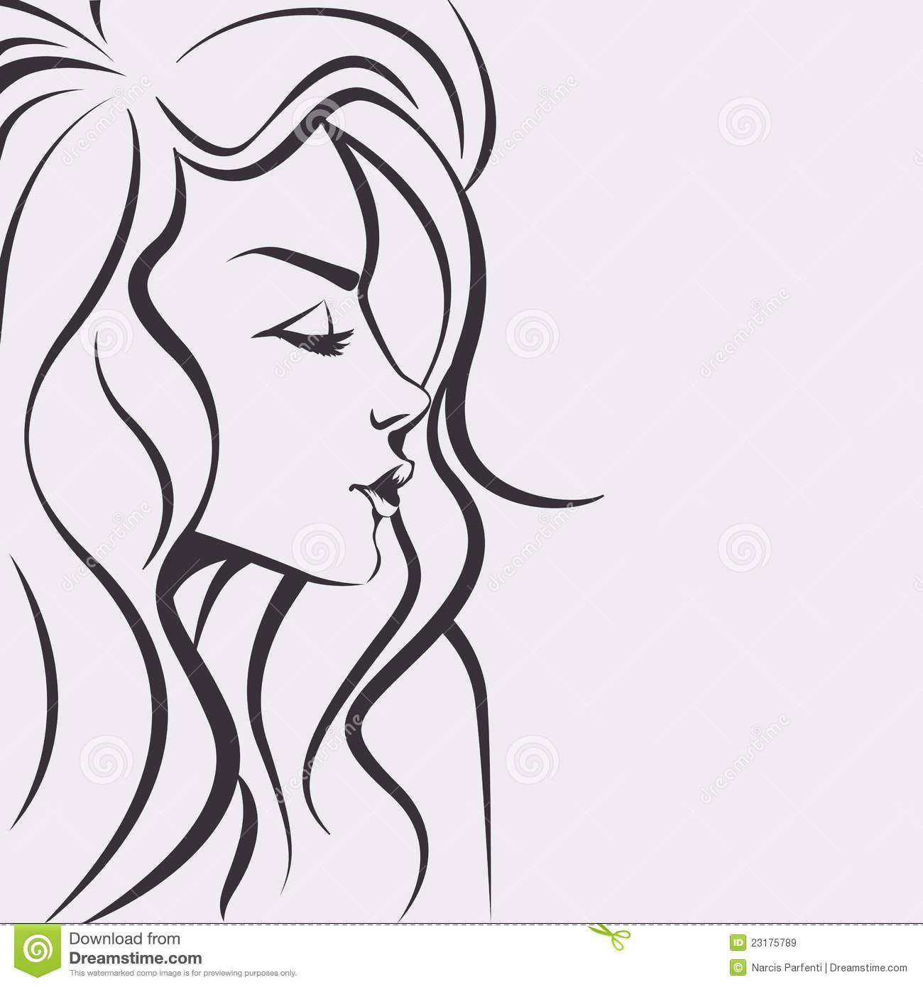 Fashion Sketch Beautiful Woman Face Face Drawing Drawings Art