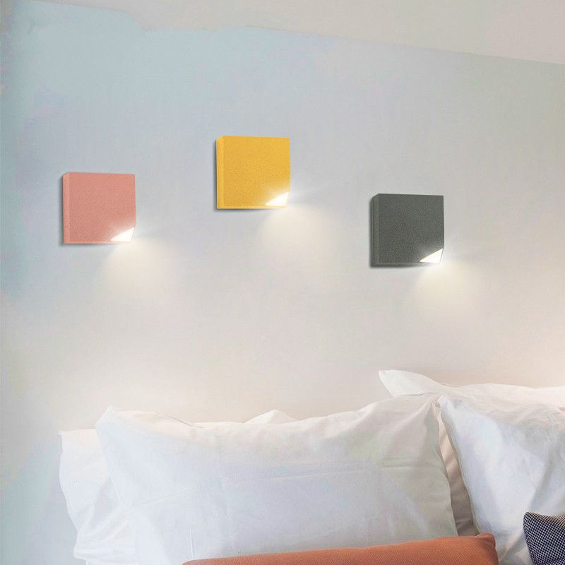 Moderno Dormitorio Luz de Noche LED de Pared Maccaron Creativo Nordic lámpara de Pie de Hierro Lámpara de Pared Del Pasillo Corredor de Pared esquina Soconces lustres en LED Lámparas de Pared De Interior de Luces e Iluminación en AliExpress.com | Alibaba Group