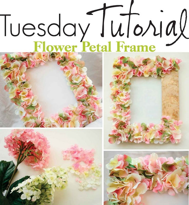 Flowery picture frame  Use the basic process to transform it