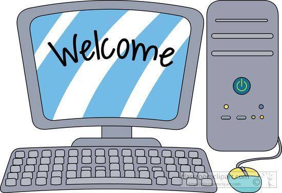 computers clipart desktop computer with welcome on the screen rh pinterest ca clipart computer black and white clip art computer science