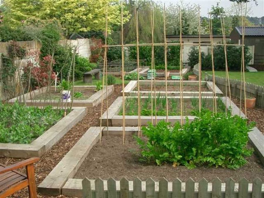 john incles vegetable beds with new pine ailway sleepers - Garden Design Using Railway Sleepers