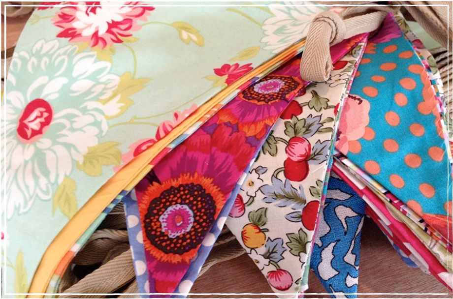 Colourful, whimsical bunting