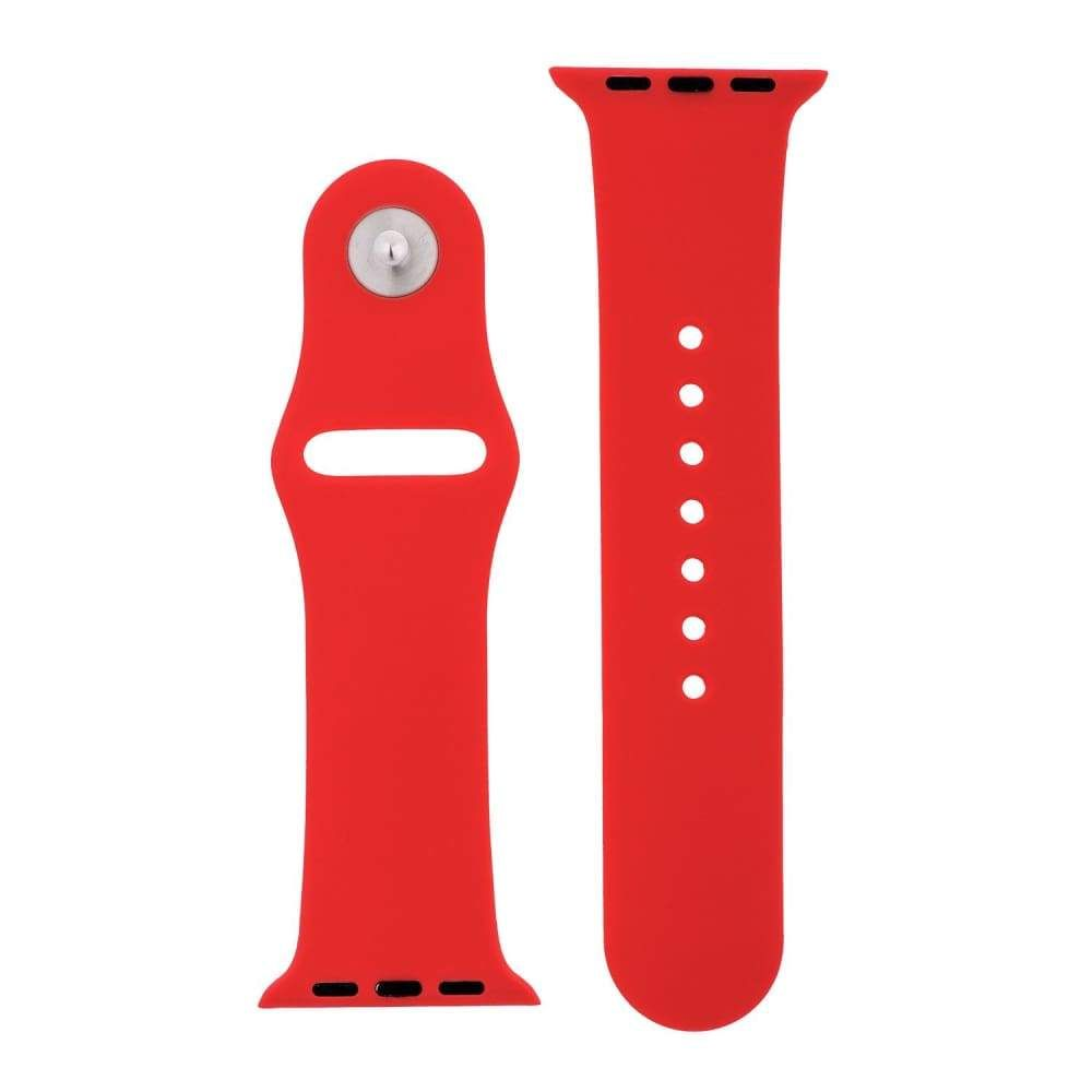 Cherry Red Silicone Sports Watch Band 38mm 42mm for Apple
