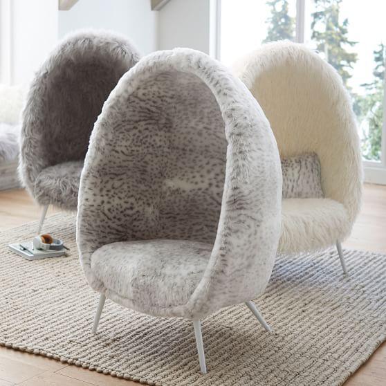 Ivory Furlicious Faux Fur Cave Chair Decoracion De Habitacion De Chicas Decoracion De Escritorio Diseno De Muebles
