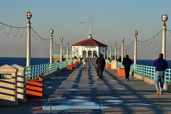 Manhattan Beach Pier by Diane Greene Lent