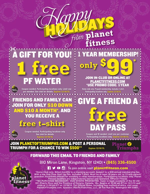 View As A Webpage Planet Fitness Workout Fitness Promo Codes