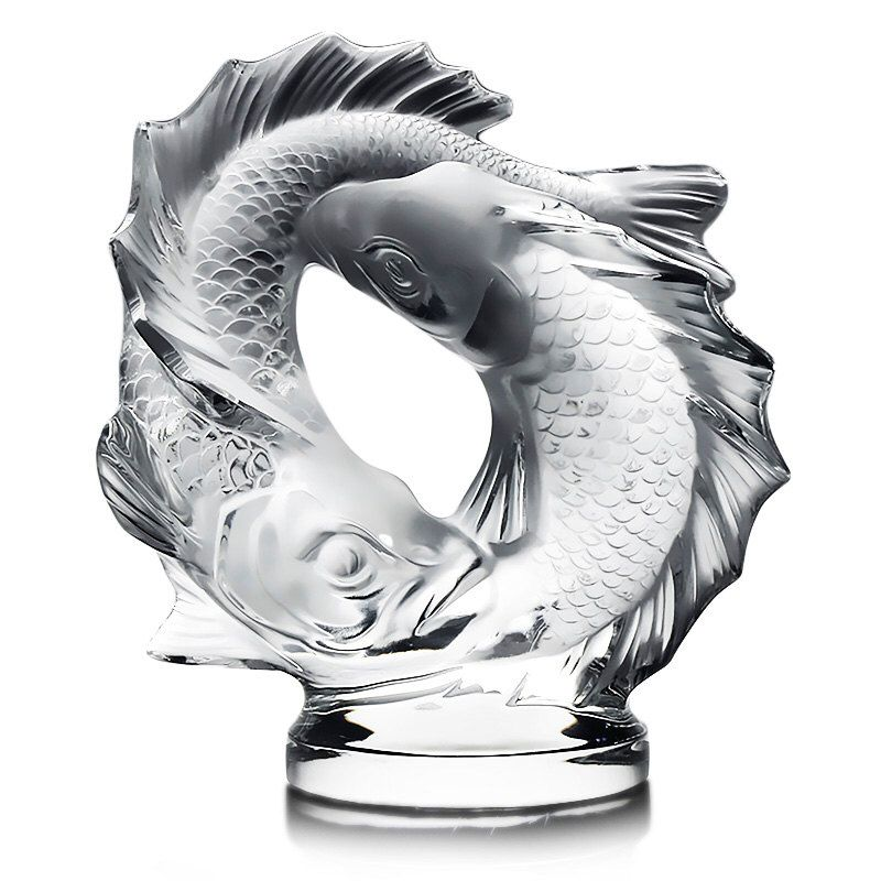 Lalique French Crystal Deux Poissons Pisces Sculpture 17.5 lbs by OnceUponADiamond on Etsy https://www.etsy.com/listing/273242662/lalique-french-crystal-deux-poissons