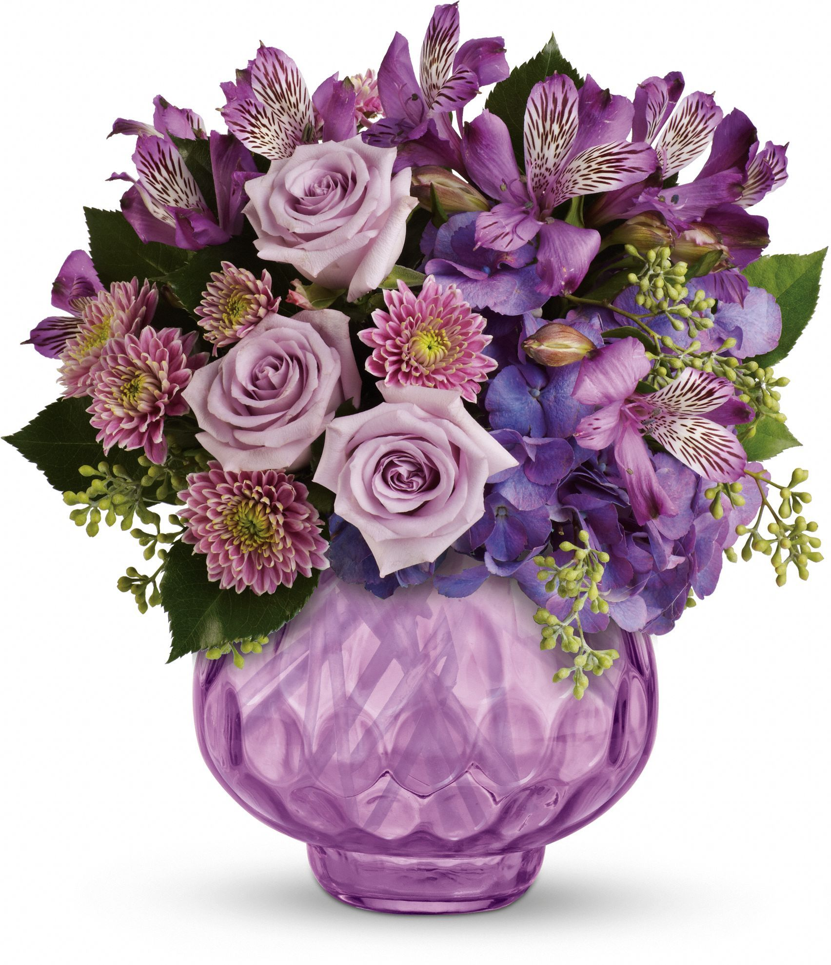 Teleflora's Lush and Lavender with Roses Birthday