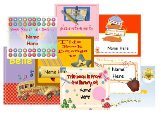 Free Book Label Templates For Your Kids And You Can Personalize The