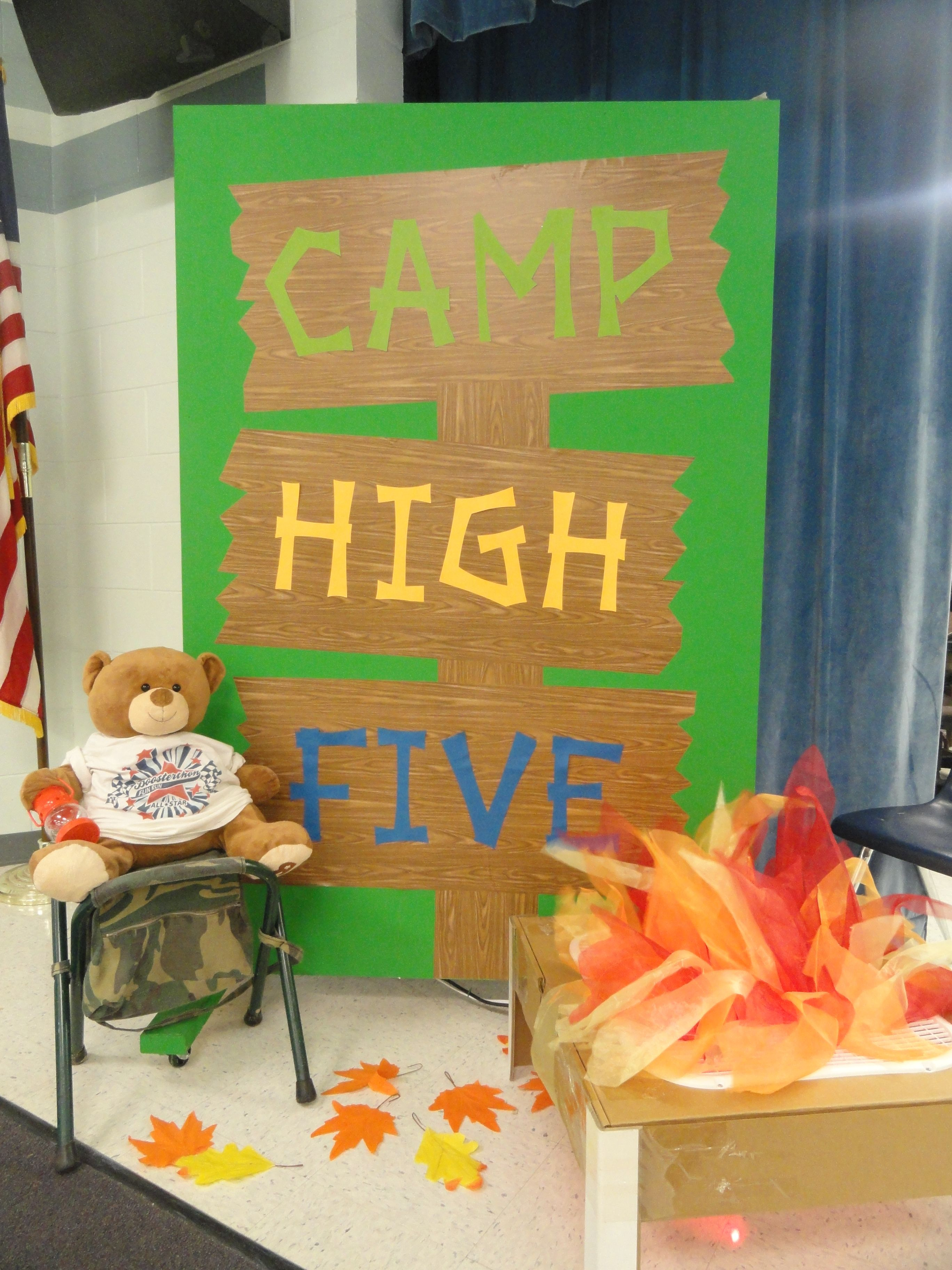 We are decorated and ready for Boosterthon!! Heathrow's Camp High Five is going to be so much fun!