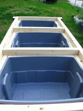 SelfWatering Veggie Table is part of Watering raised garden beds, Raised garden beds diy, Table garden bed, Elevated gardening, Elevated garden beds, Raised garden - SelfWatering Veggie Table A Brief History of Gardening in Containers Do you like gardening but digging in the dirt is too painful, messy, or time consuming  Container gardening is your answer  For many years now, container gardeners have been using pots, tubs, and boxes