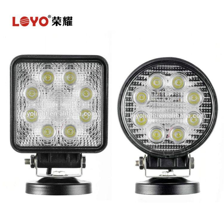 Chep 12V 24W LED Work Light Round LED 4x4 Spot Light for