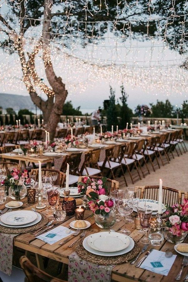 20 Budget Friendly Country Wedding Ideas From Pinterest Emmalovesweddings Wedding Lights Wedding Reception Decorations Fairy Lights Wedding