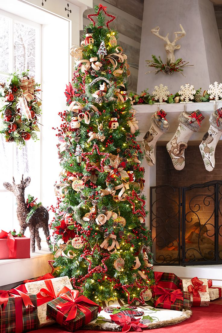 A beautiful christmas tree that brings smiles to all - Decoracion navidena rustica ...