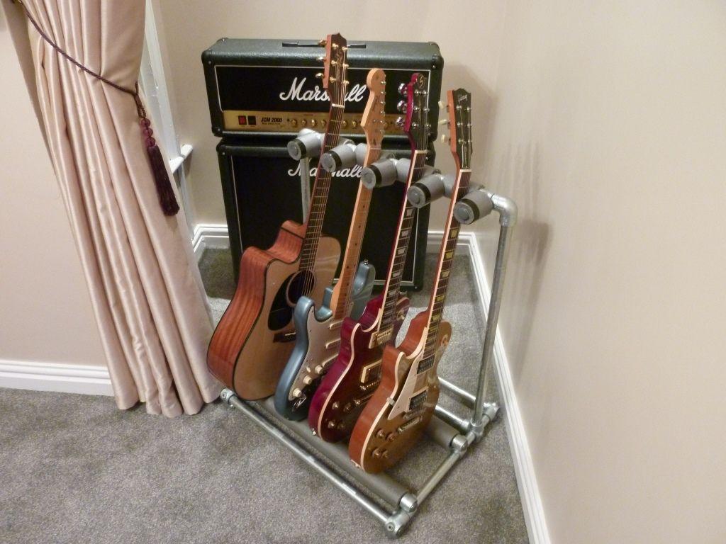 Diy guitar stand guitar stuffs pinterest guitar stand and diy guitar stand solutioingenieria Gallery