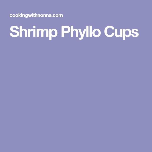 Shrimp Phyllo Cups