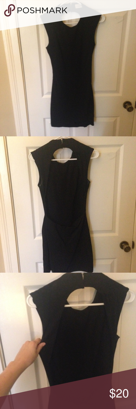 PERFECT little black dress with open back Little black dress with open back, super cute on! No pulls or snags and smoke free home! Worn once! Make an offer or bundle! Dresses Backless