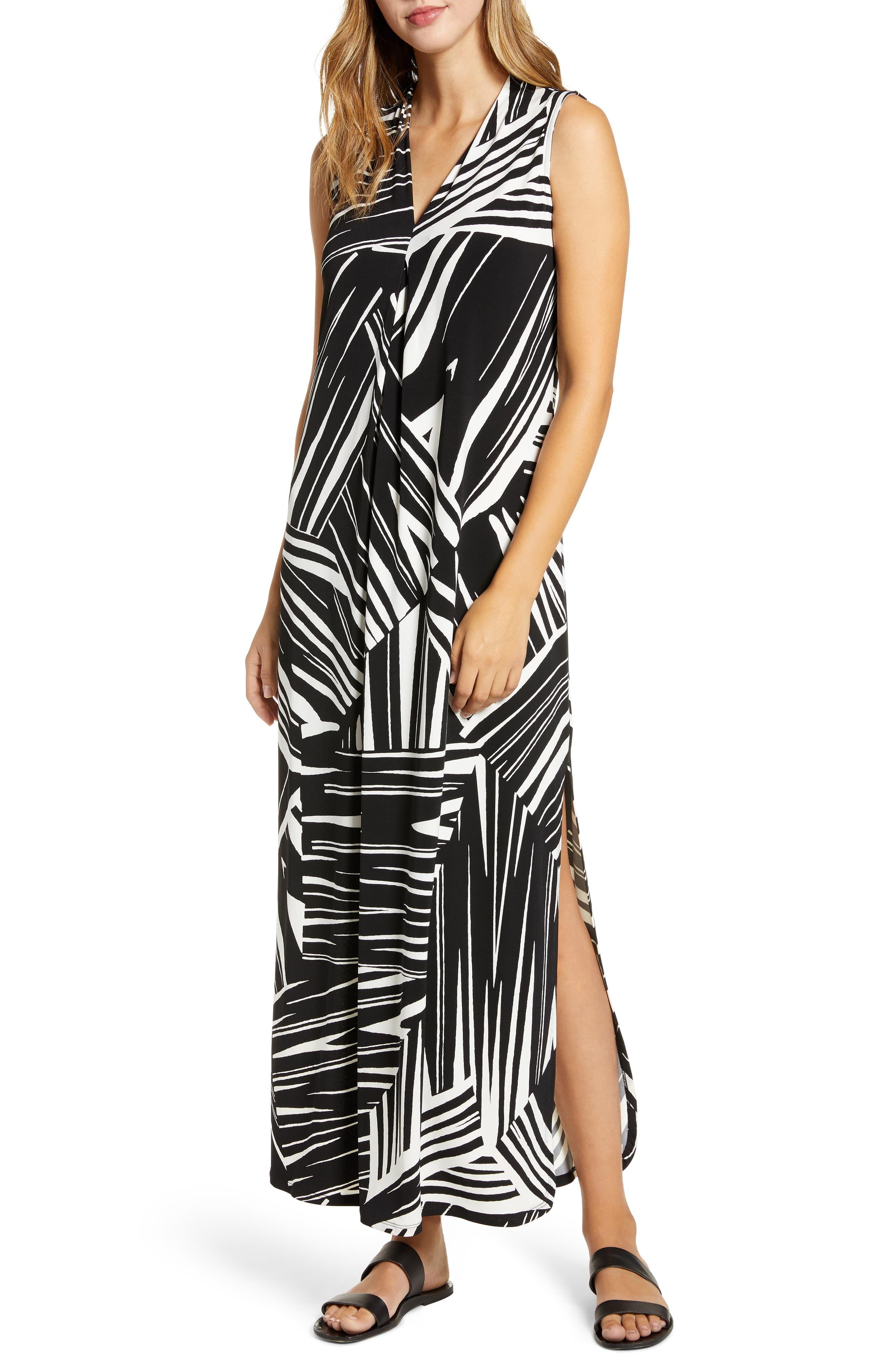 Tommy Bahama Bangle Stripe Maxi Dress   Nordstrom #blackmaxidress