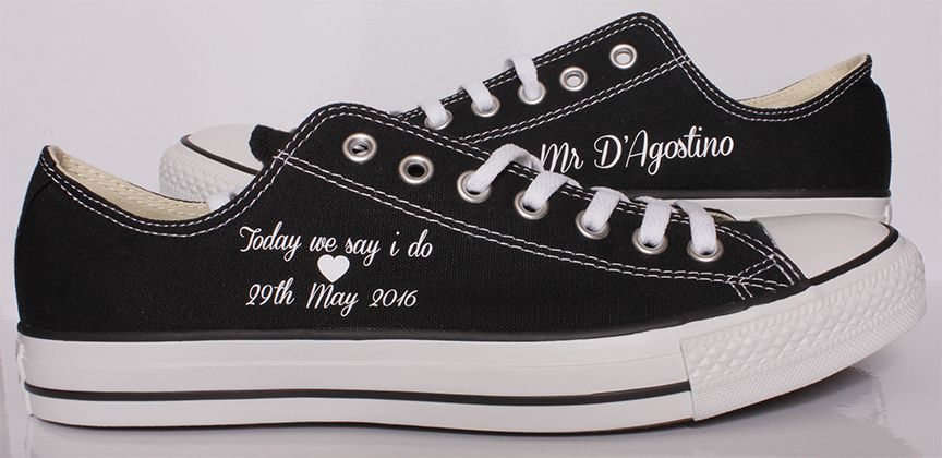 2c79f7d10cd2 Groom Converse by Dead Fresh. These unique Wedding Converse are flying all  the way to Italy!