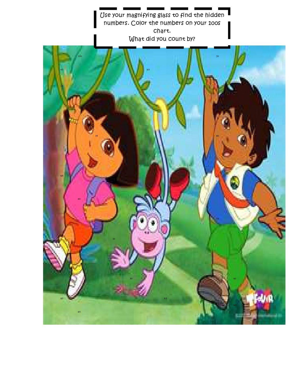 Centers and Freebies {Blog Hop} Dora the explorer, Dora
