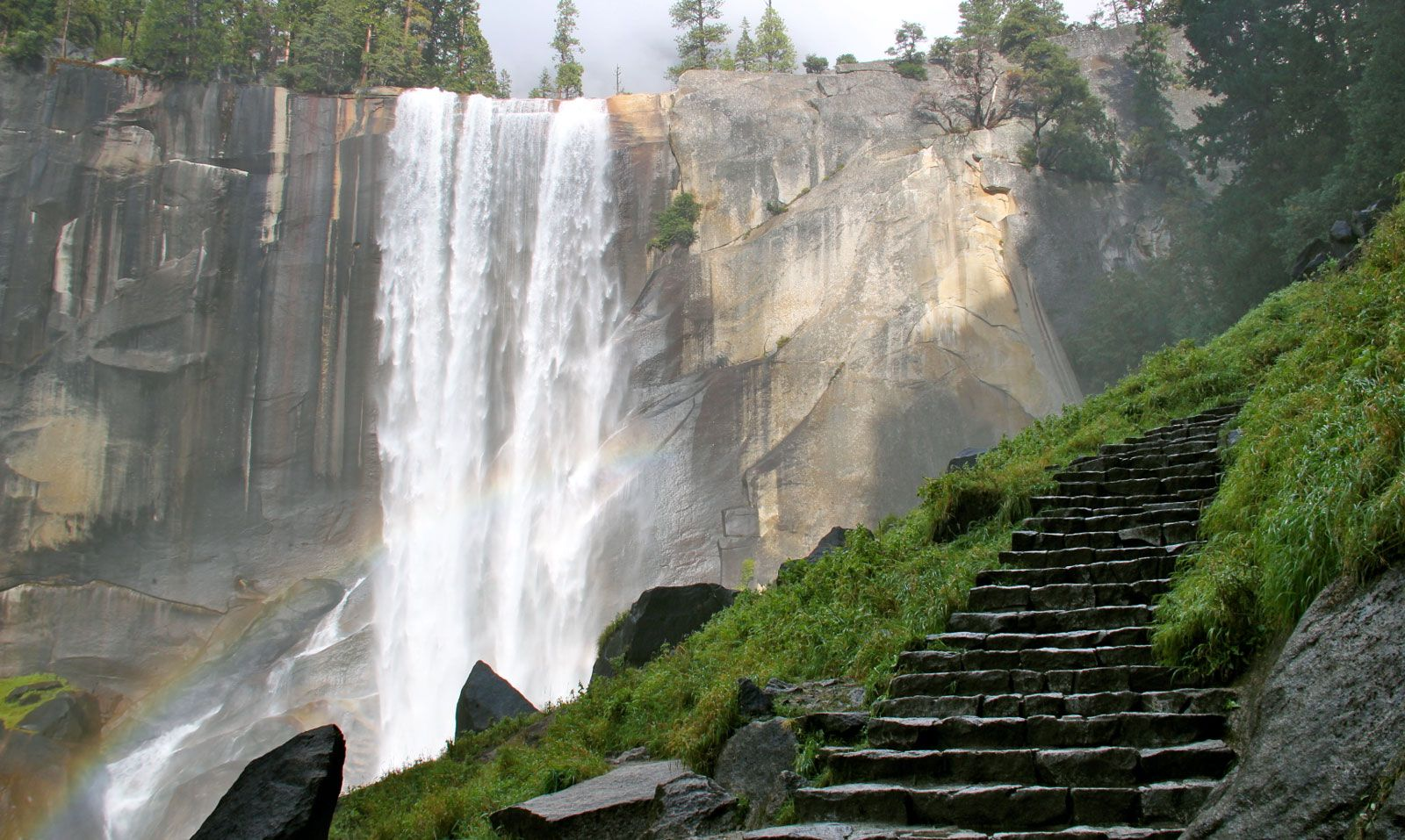 Wet waterfall steps | Yosemite | Pinterest | Parks, Cas and Waterfalls