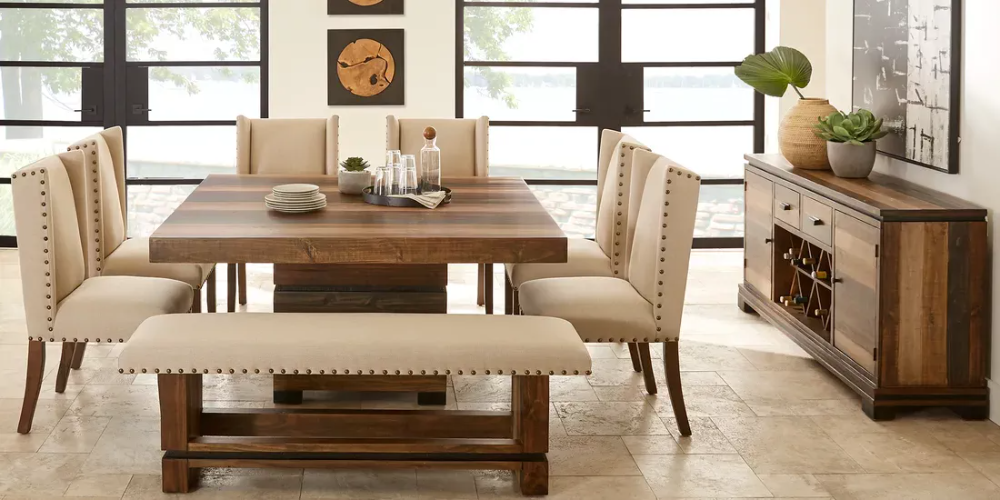 Cindy Crawford Home Westover Hills Brown 8 Pc Square Dining Room Brown Dining Room Square Dining Room Table Brown Dining Room Table
