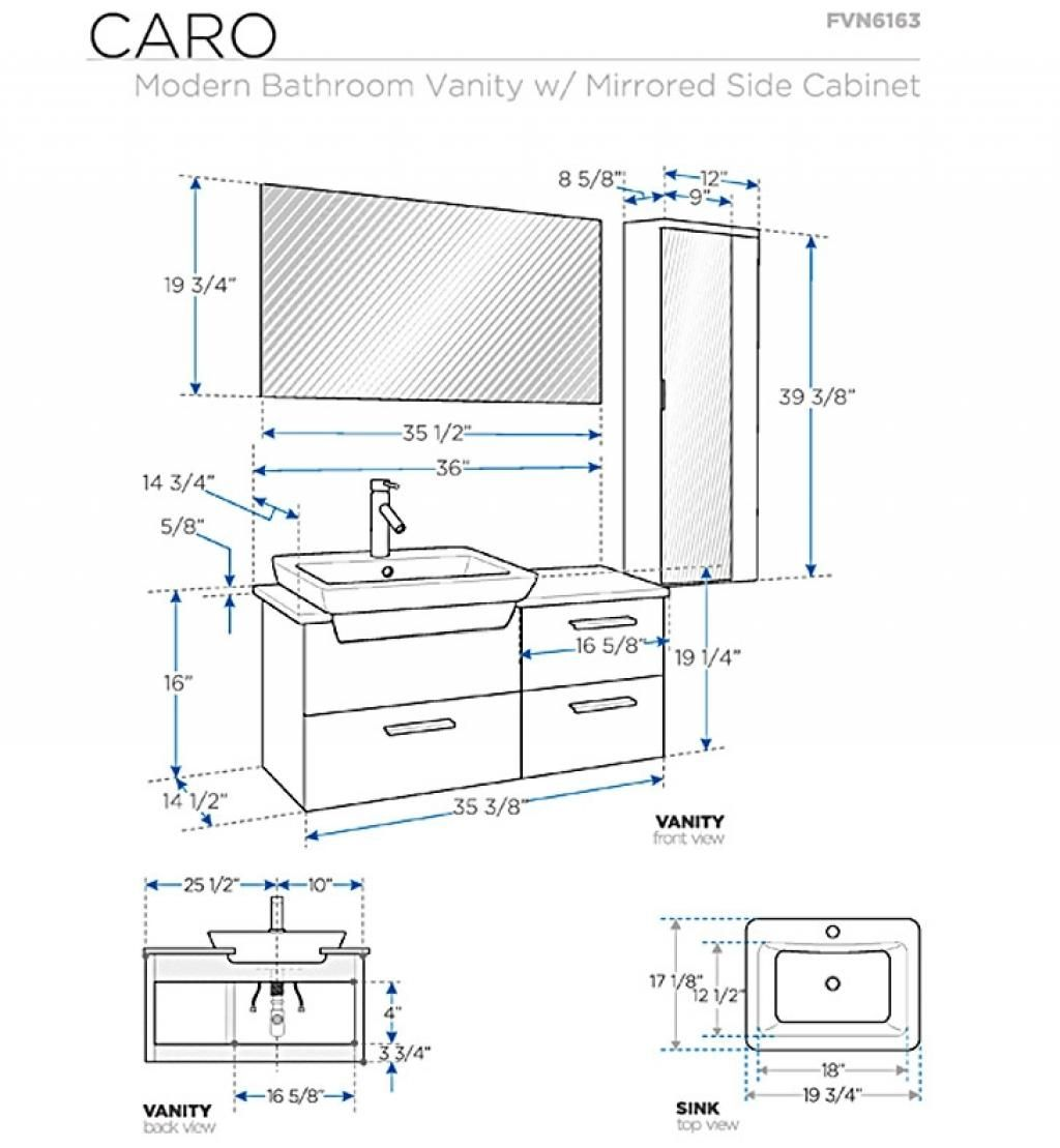 Standard Height For Bathroom Vanity Standard Height Of ...