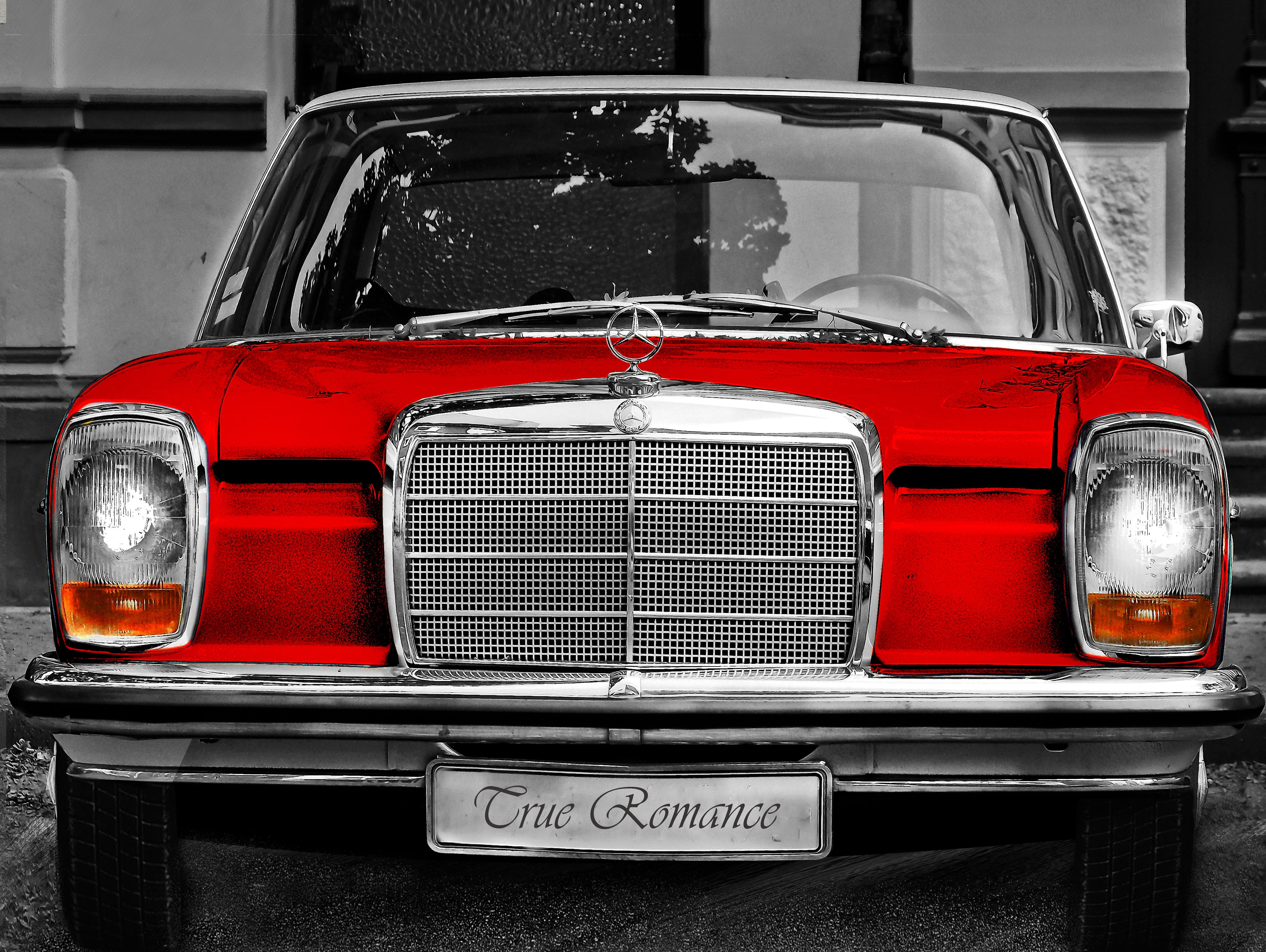 #Mercedes # W115 #Retro #Car mercedes w115 # 115 #red old car –