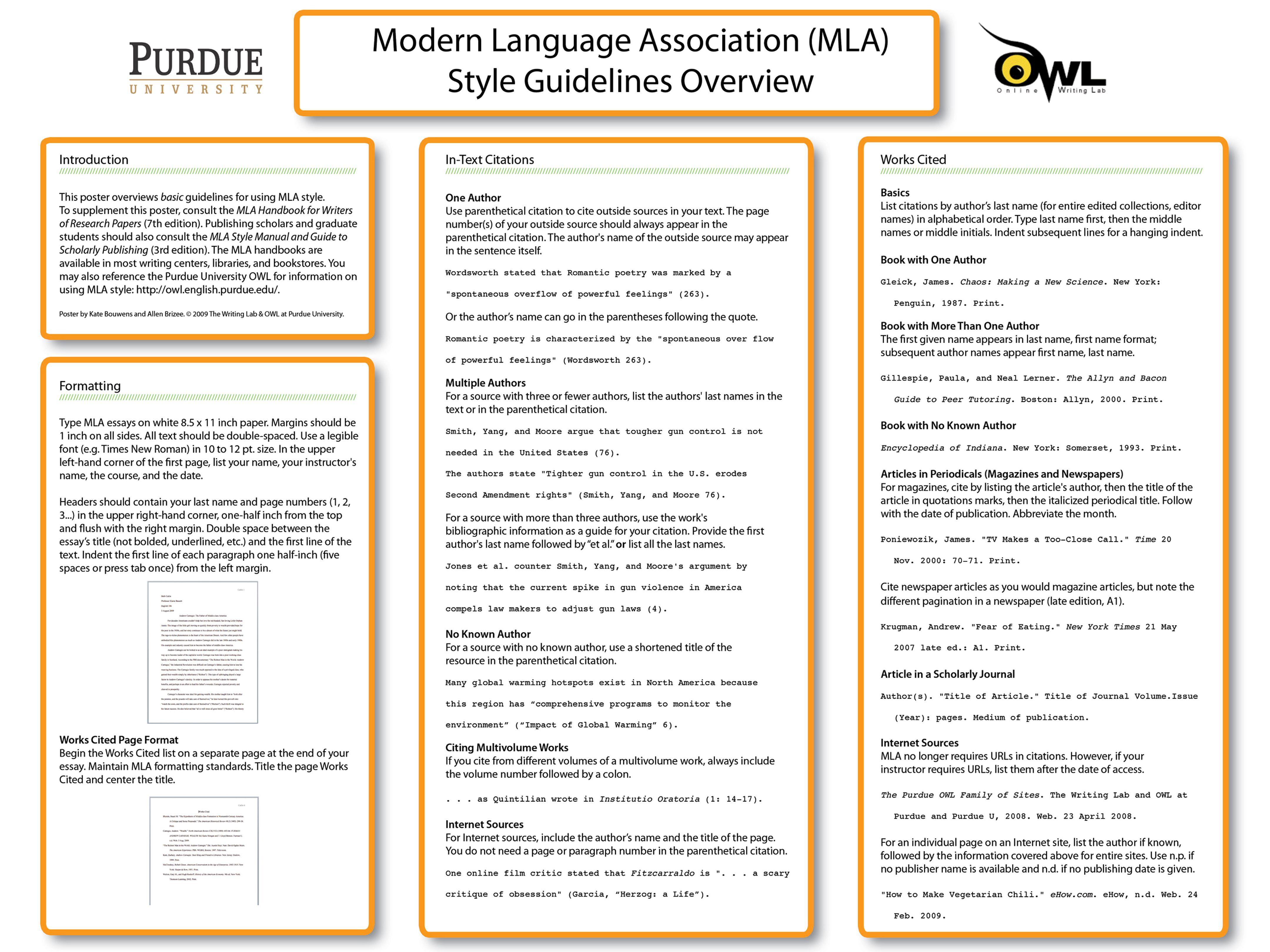 Mla Citations Poster