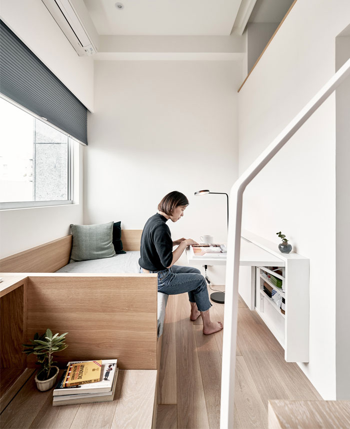 Micro Apartment With Space Saving Furniture By A Little Design Luxury Bedroom Furniture Tiny Apartment Apartment Interior