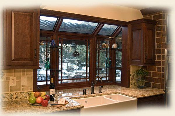 Greenhouse Windows Kitchen #Kitchen wood greenhouse window ...