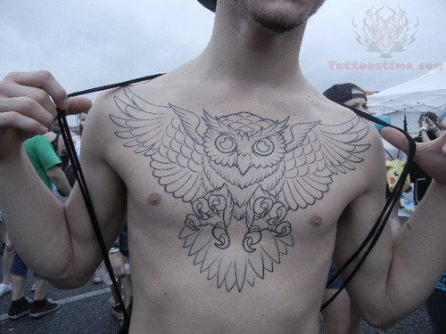 Traditional Owl Chest Piece Tattoo Google Search Pieces Tattoo Chest Piece Tattoos Neck Tattoo For Guys