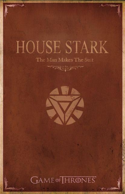 Minimalist Game of Thrones/Iron Man poster - House Stark #funkogameofthrones
