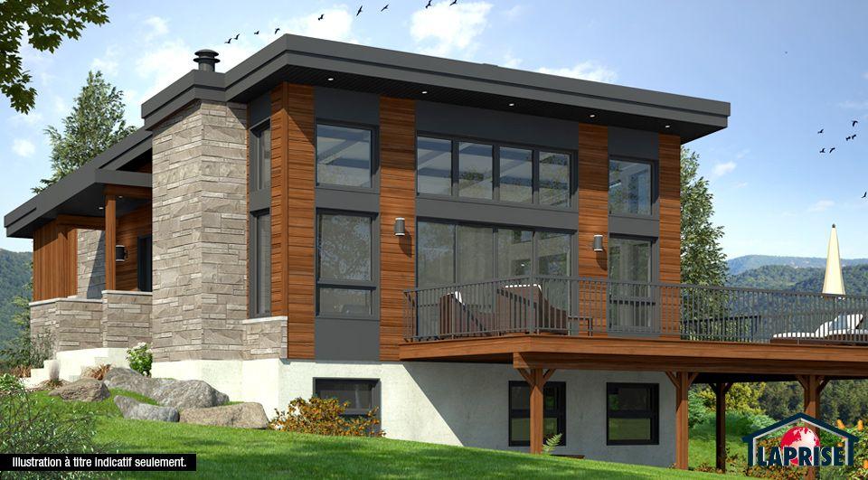 CHALET DE SKI MODERNE RUSTIQUE 3 chambres, deux salles familiales - plan de maison duplex gratuit pdf