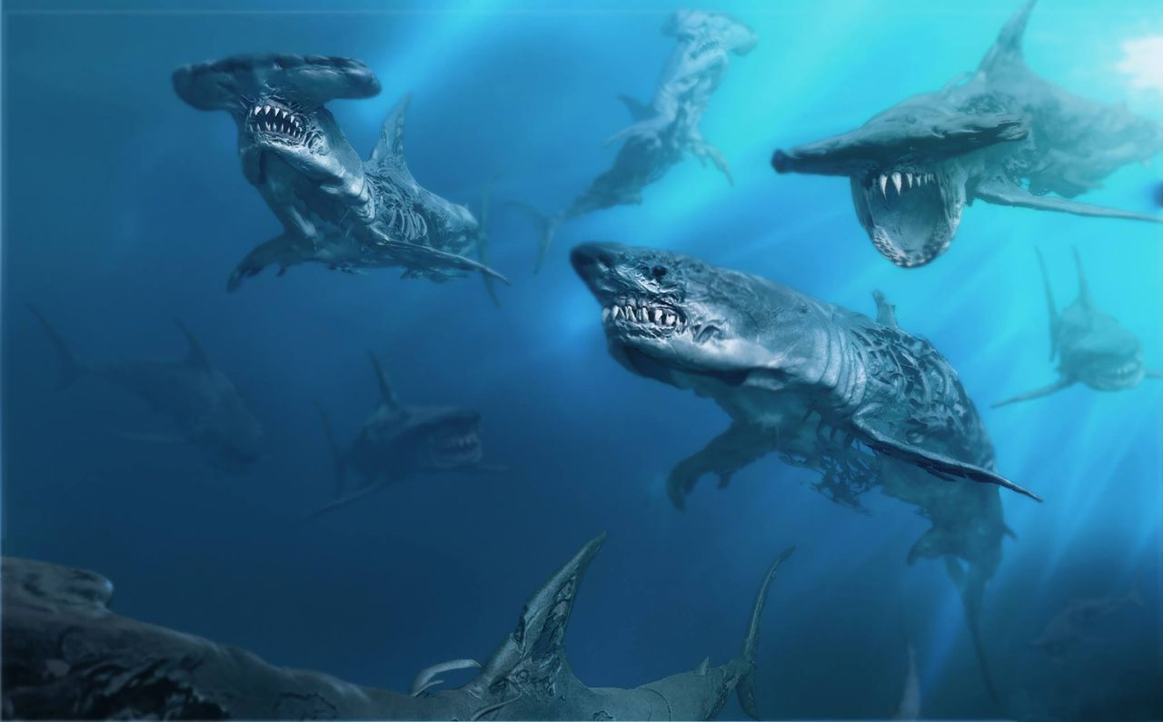 Ghost Sharks Revealed in Pirates of the Caribbean 5 Art   PIRATES  5     Ghost Sharks Revealed in Pirates of the Caribbean 5 Art